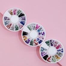 3 Boxen Nagelkunst Dekoration mit Stern & Mond Muster