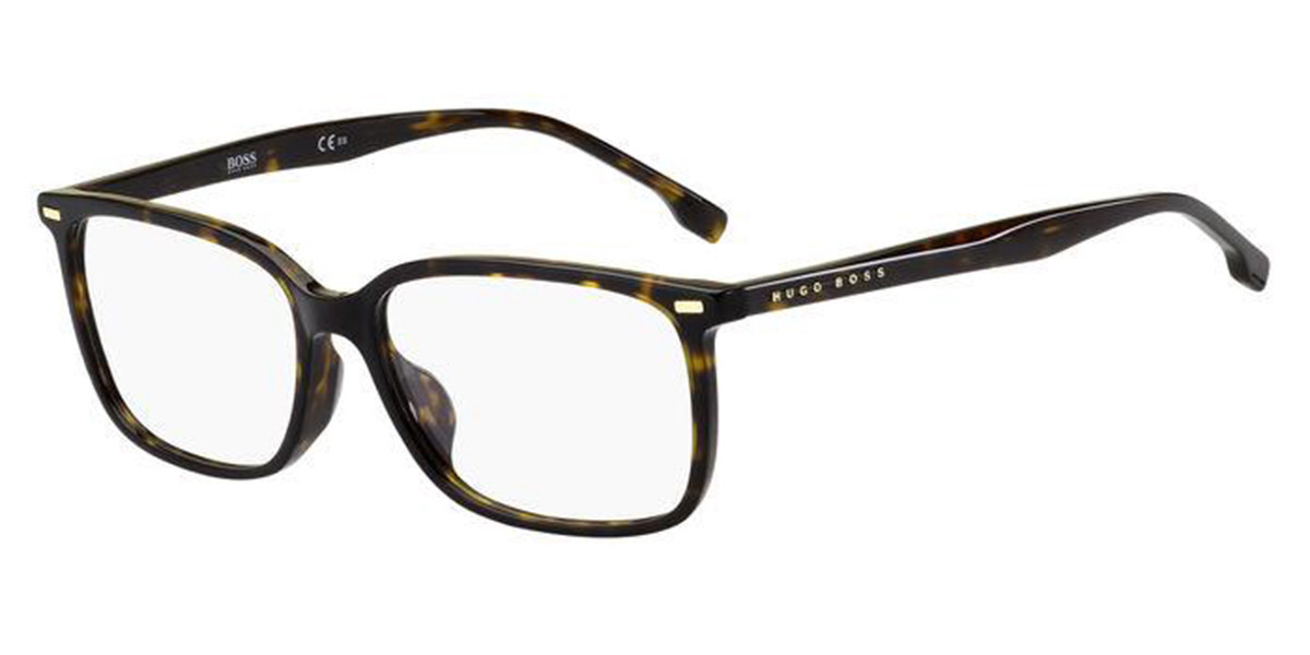 Boss by Hugo Boss Boss 1217/F Asian Fit 086 Mens Glasses Tortoise Size 57 - Free Lenses - HSA/FSA Insurance - Blue Light Block Available
