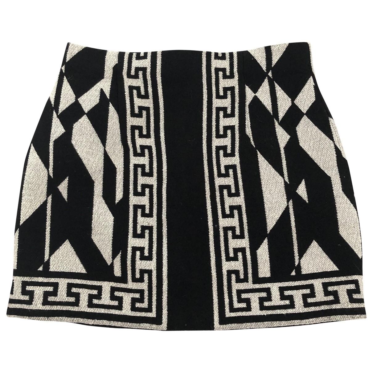 Zara - Jupe   pour femme en laine - noir