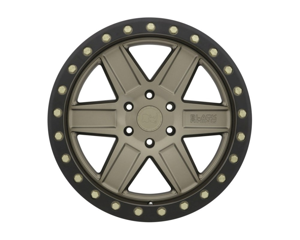 Black Rhino Attica Wheel 20x9.5 5x139.70|5x5.5 0mm Matte Bronze w/ Black Lip & Brass Bolts