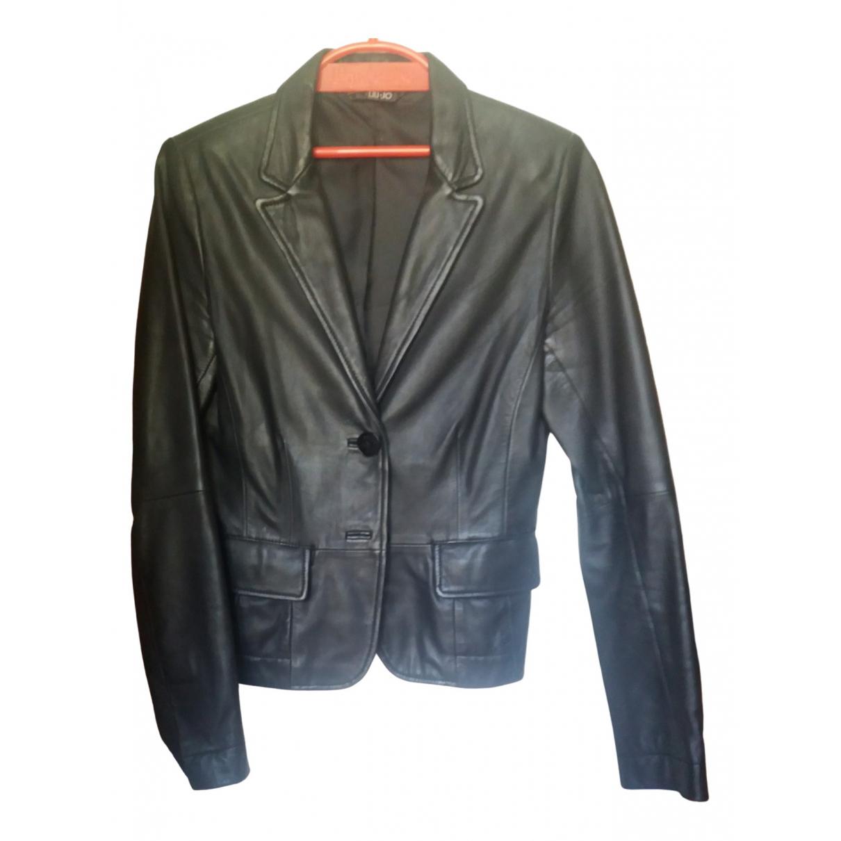 Liu.jo - Veste   pour femme en cuir - noir