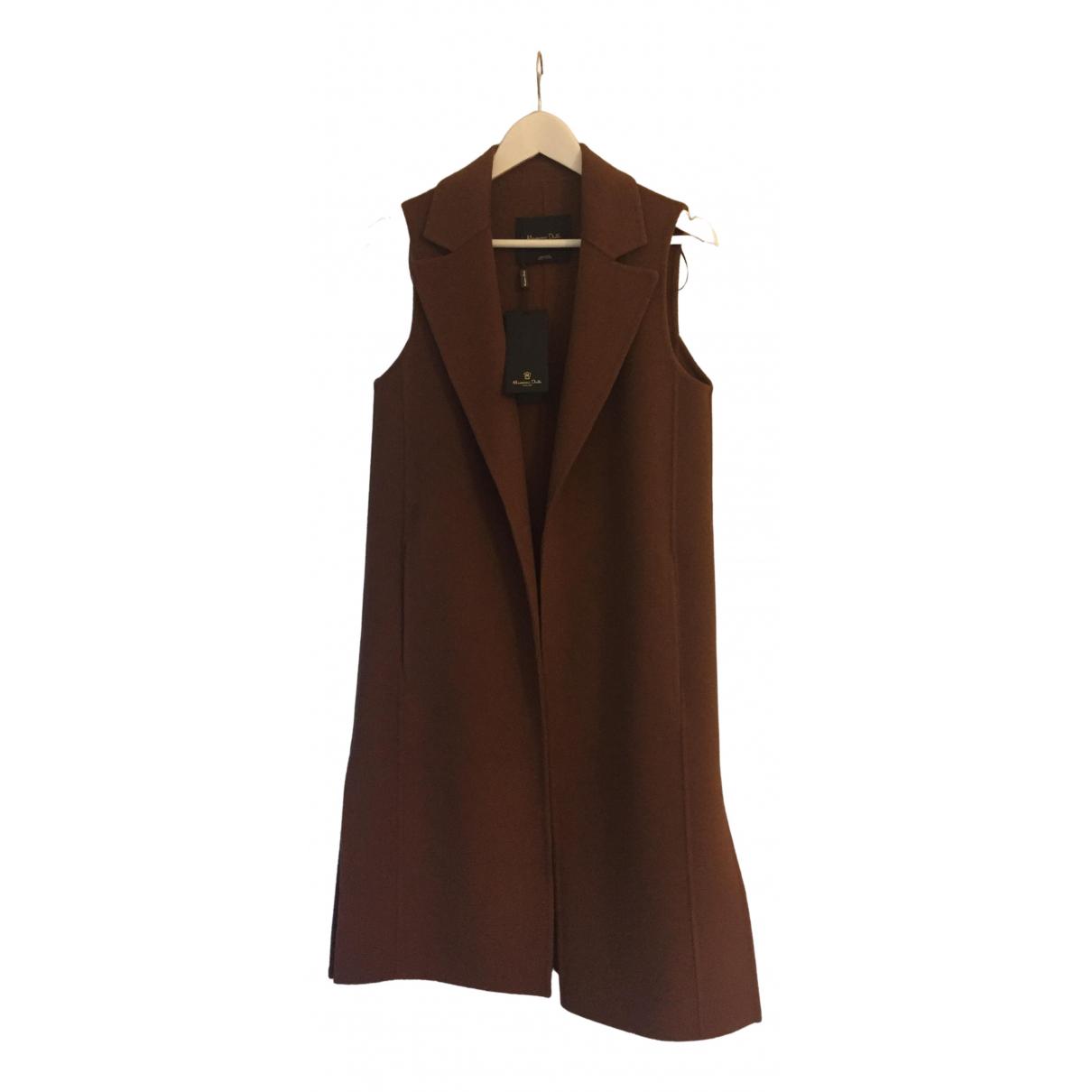 Massimo Dutti \N Brown Wool coat for Women 34 FR
