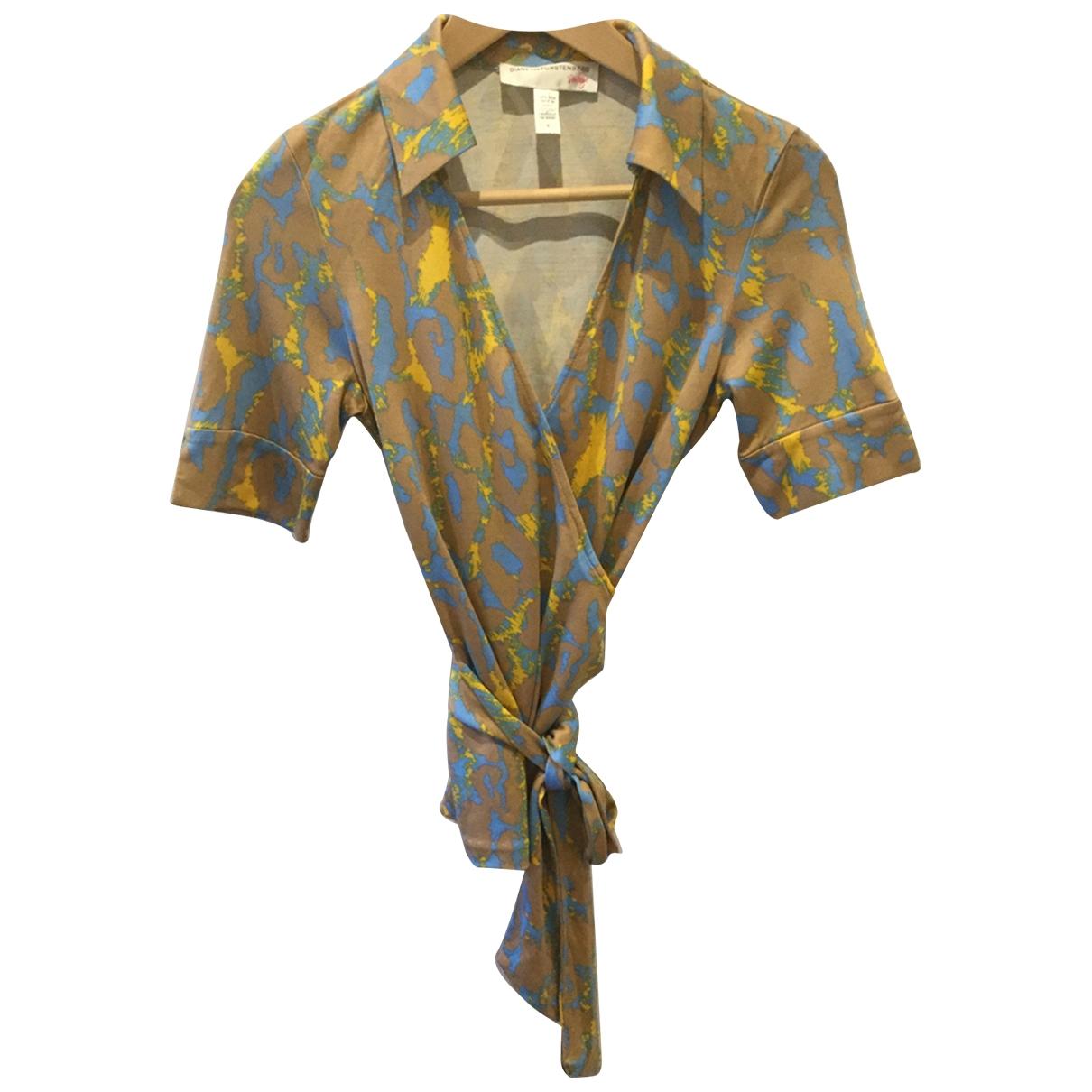 Diane Von Furstenberg - Top   pour femme en soie - beige
