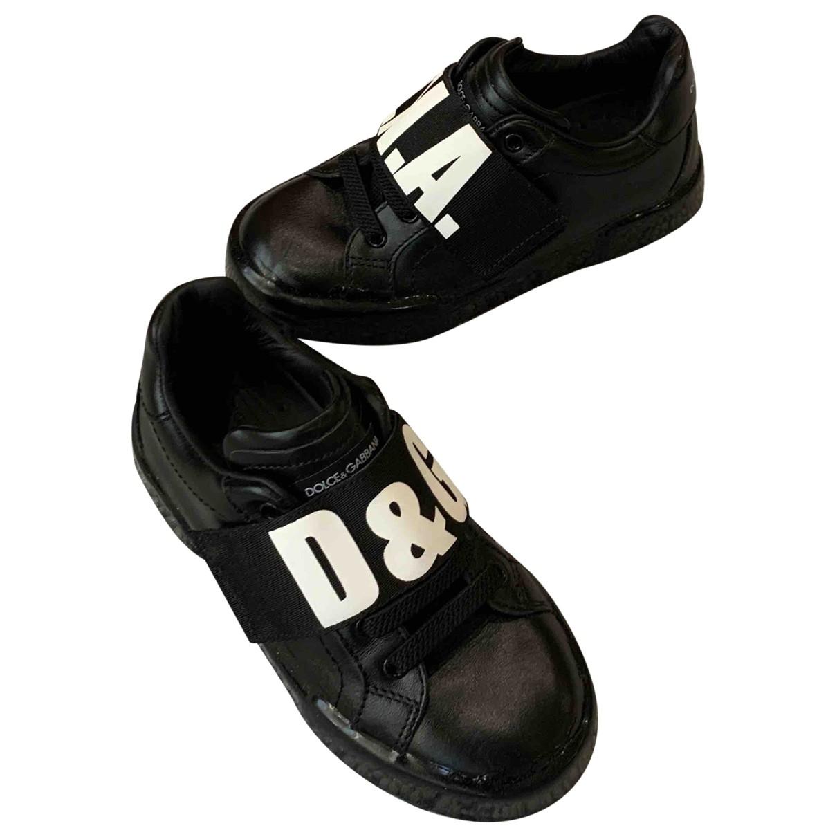 Dolce & Gabbana \N Black Rubber Trainers for Kids 29 EU