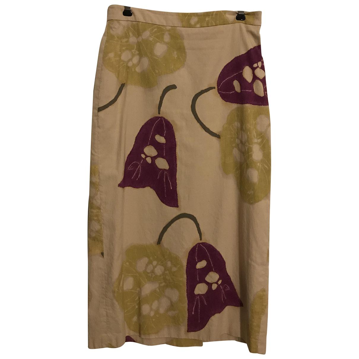 Dries Van Noten - Jupe   pour femme en soie - beige
