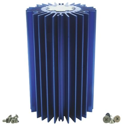 Intelligent LED Solutions Heatsink, Dragon 1, Duris 1, Duris 4, Oslon 1, Oslon 16, Oslon 4, Oslon 9, Stanley 1, Stanley 4, 50 (Dia.) x 80mm, Screw, Bl