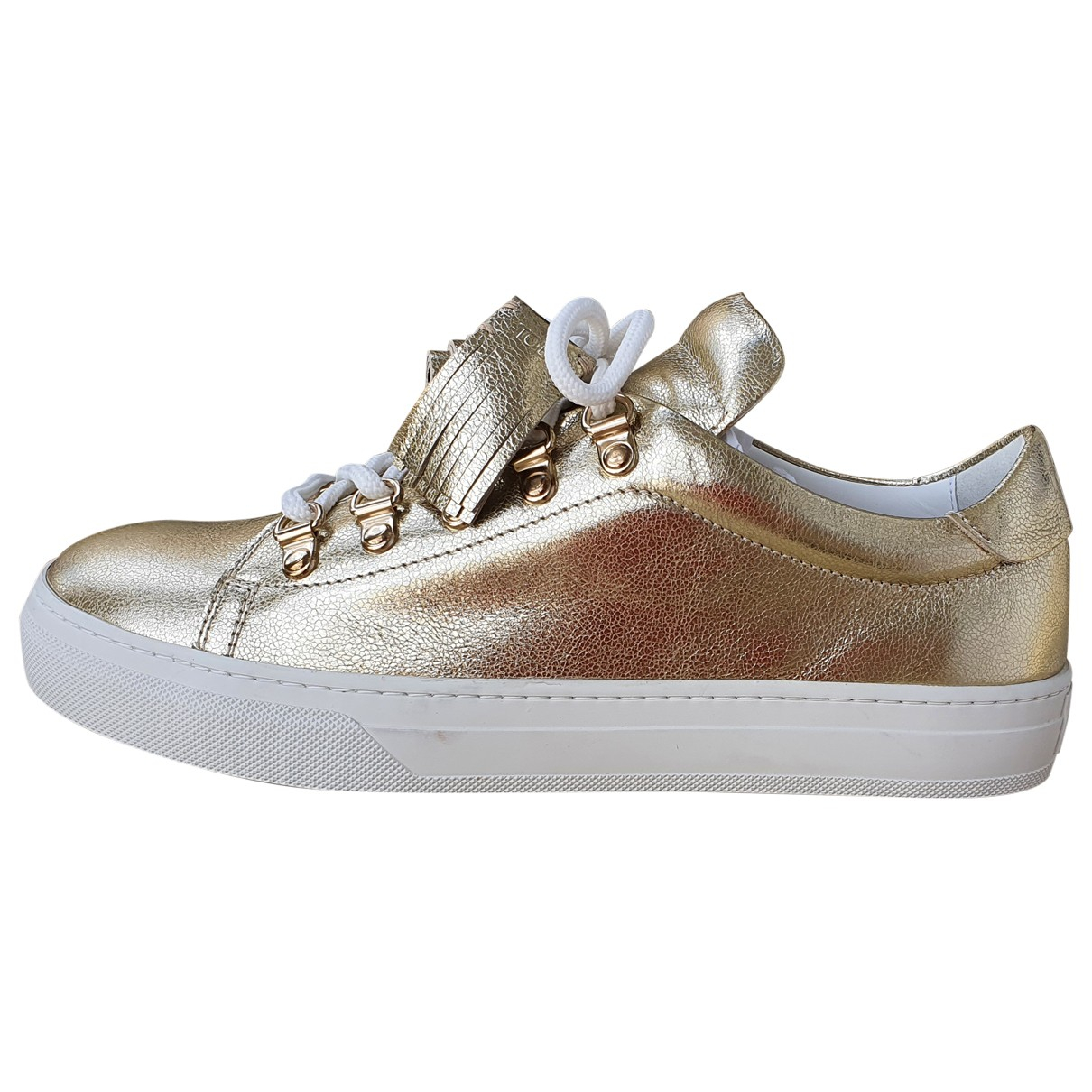 Tod's \N Gold Leather Trainers for Women 38.5 IT