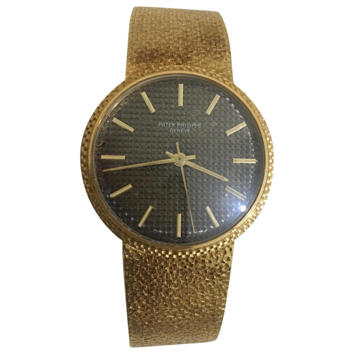 Patek Philippe Calatrava Brown Yellow gold watch for Men \N
