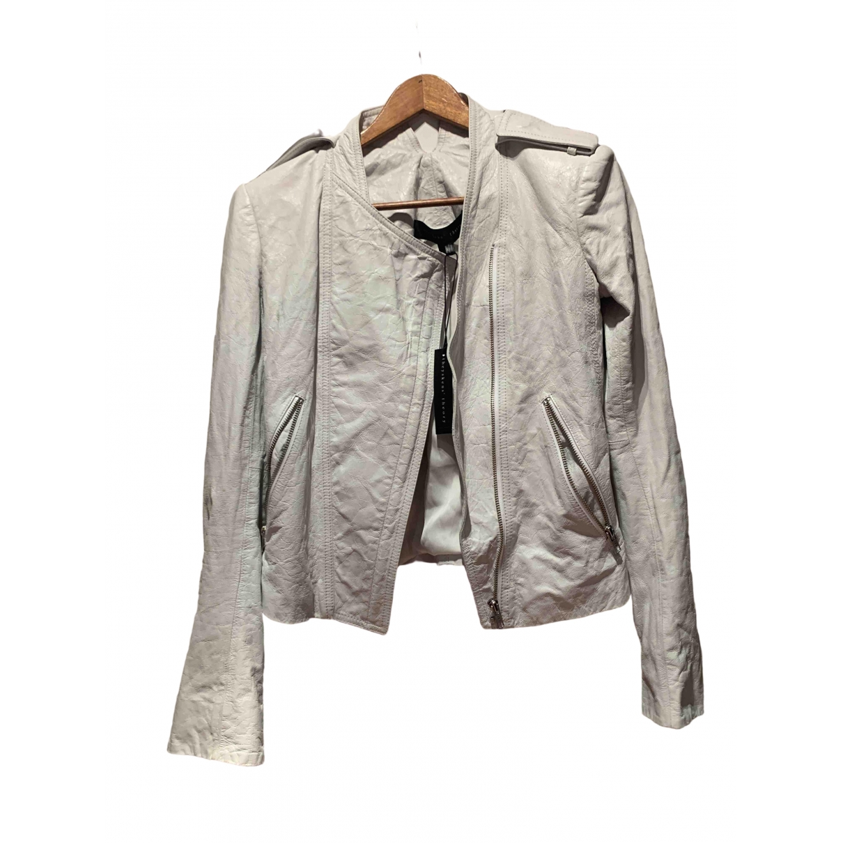 Theory \N White Leather jacket for Women 32 FR