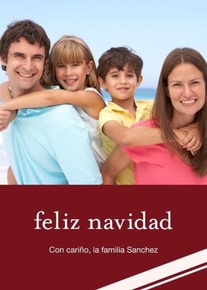 Tarjetas de Navidad 5x7 Folded Cards, Standard Cardstock 85lb, Card & Stationery -Feliz Navidad