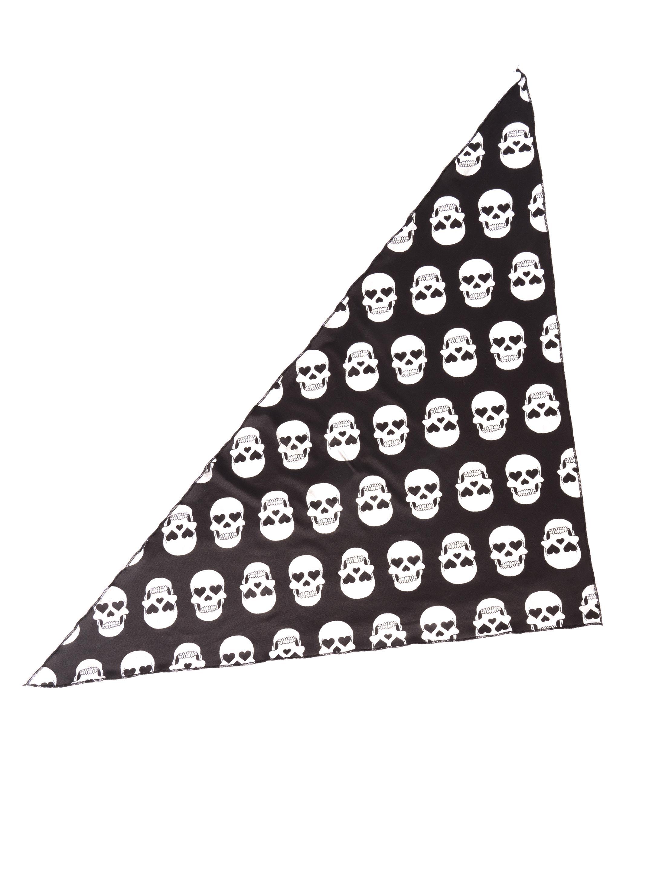 Kostuemzubehor Dreieckstuch Totenkopf silber