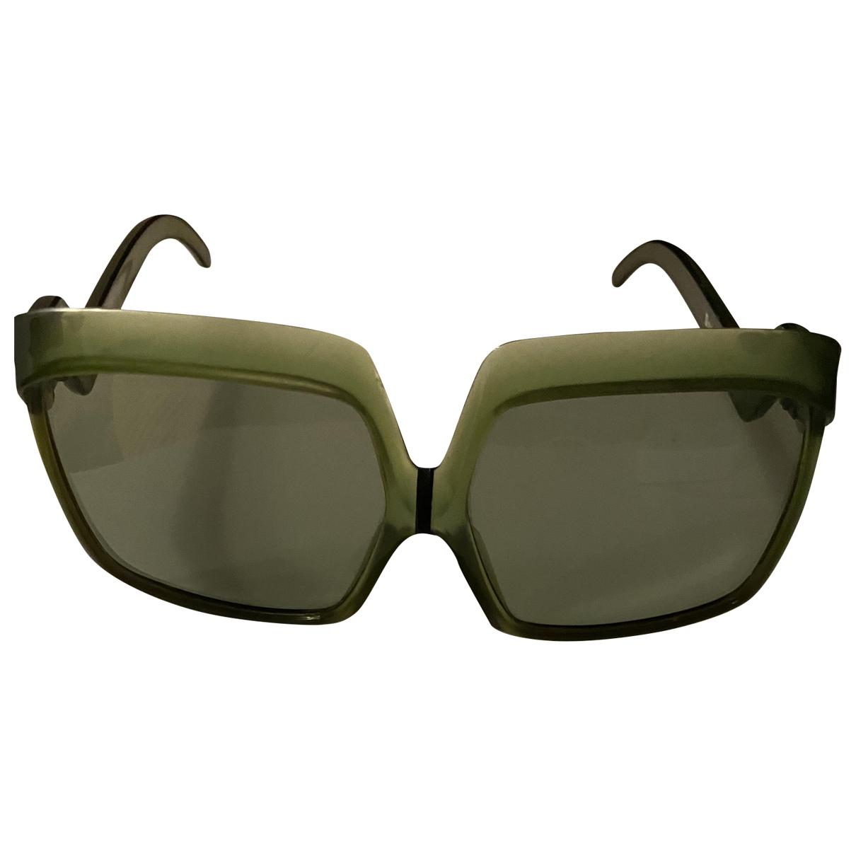 Non Signé / Unsigned \N Khaki Sunglasses for Women \N
