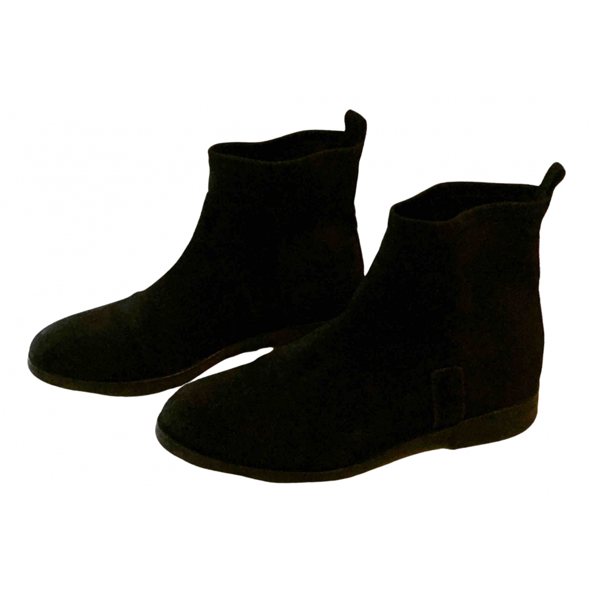 Tommy Hilfiger \N Black Suede Ankle boots for Women 38 EU