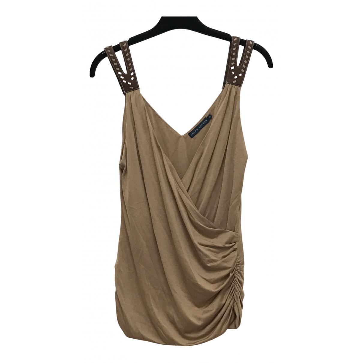 Ralph Lauren - Top   pour femme en coton - beige