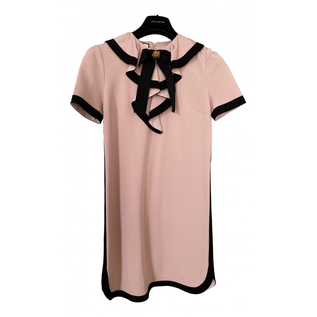 Gucci - Robe   pour femme en coton - elasthane - rose
