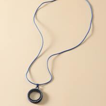 Halskette mit Strass und rundem Dekor
