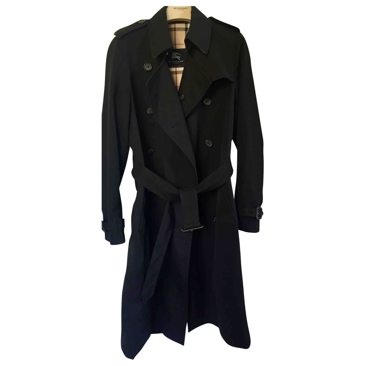 Burberry \N Black Cotton Trench coat for Women 8 UK