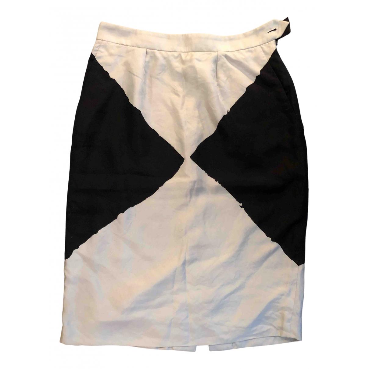 Yves Saint Laurent - Jupe   pour femme en soie - blanc