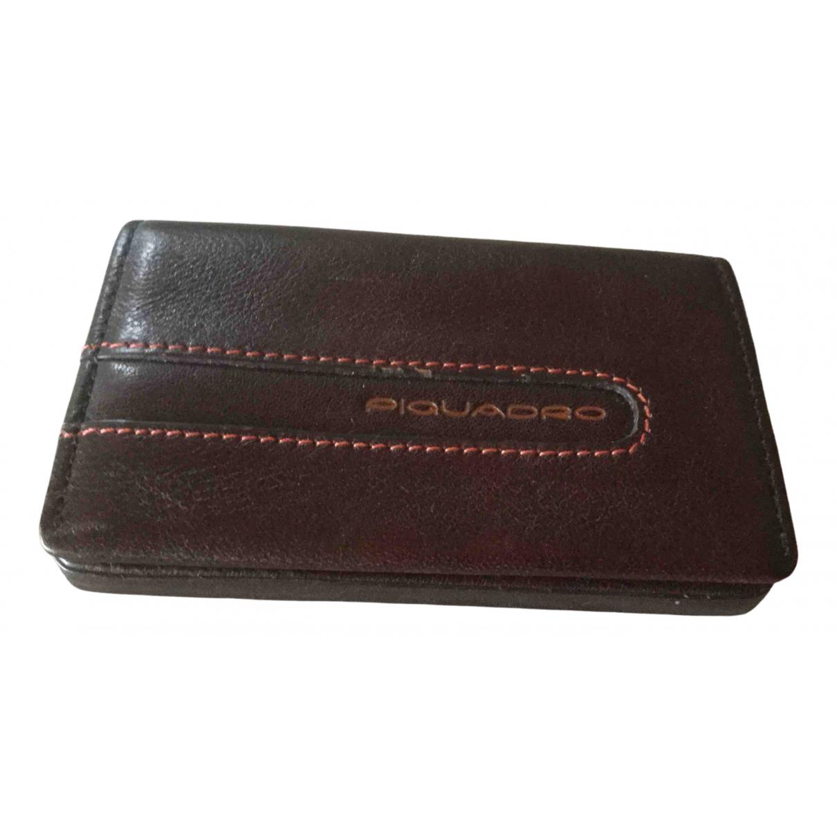 Piquadro - Petite maroquinerie   pour homme en cuir - marron