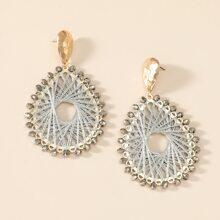 Ohrringe mit Kristall und Wassertropfen Dekor