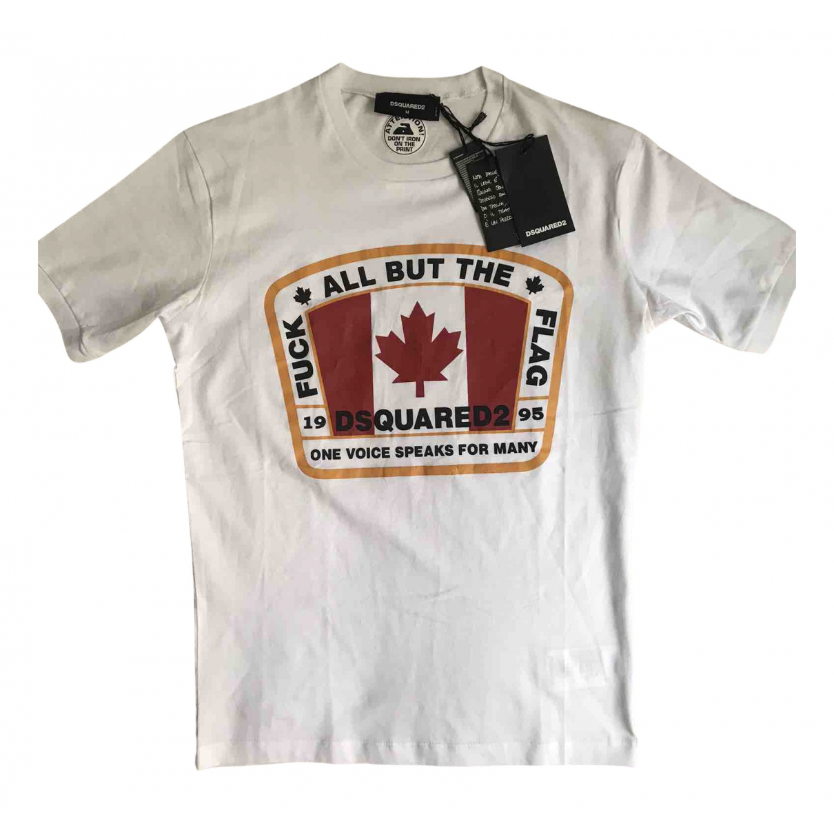 Dsquared2 N White Cotton T-shirts for Men M International