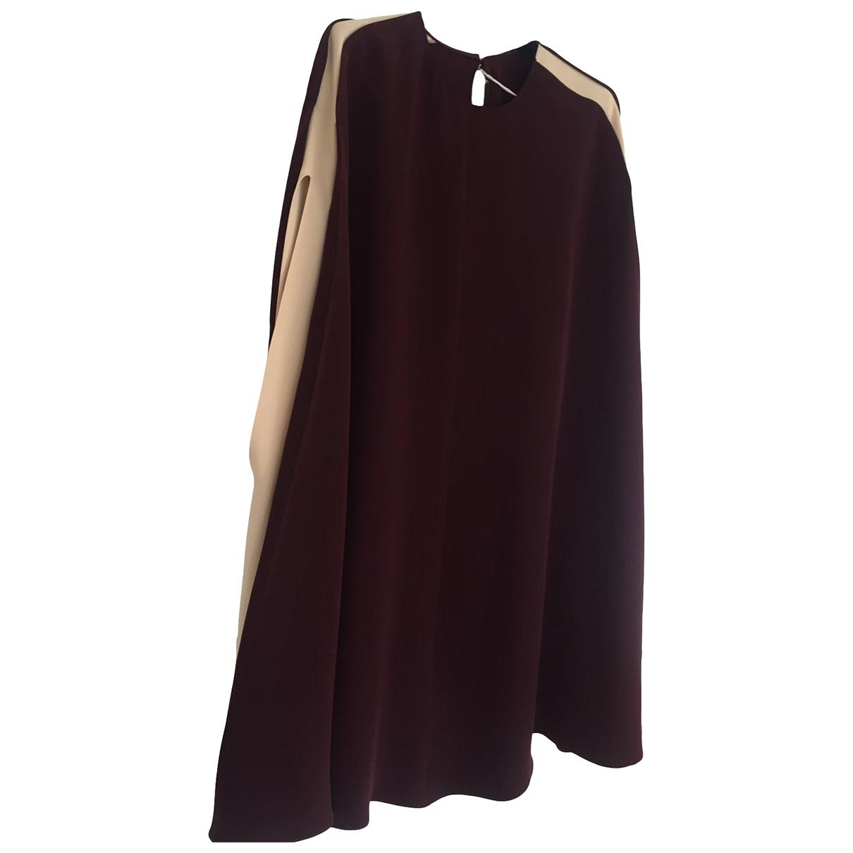 Valentino Garavani - Robe   pour femme en soie - bordeaux