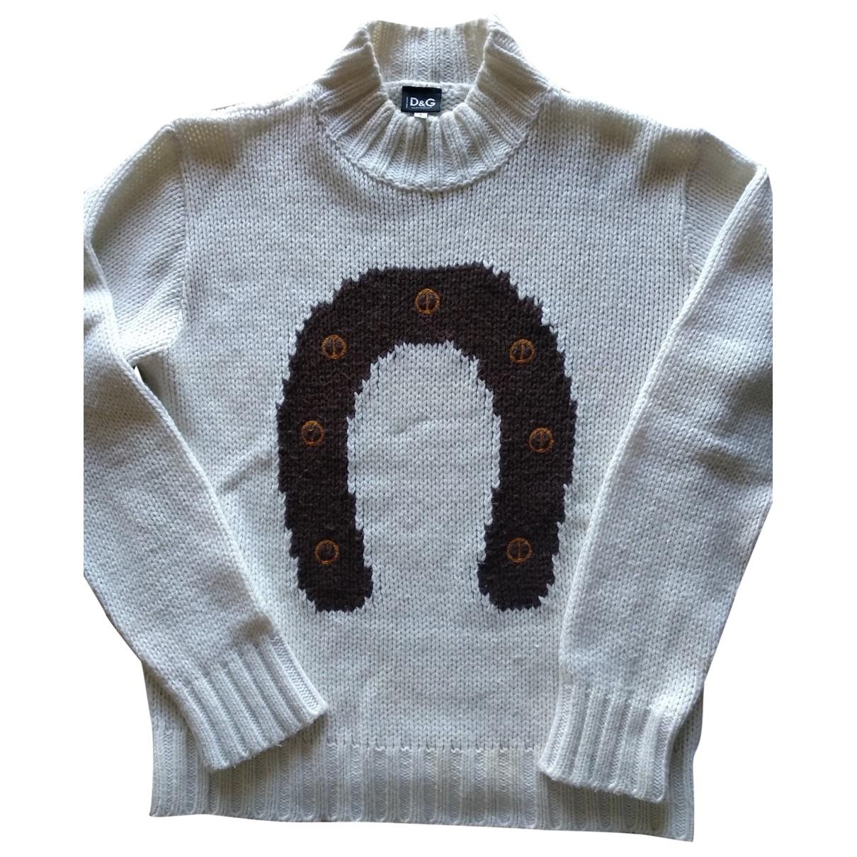 D&g \N Pullover.Westen.Sweatshirts  in  Weiss Wolle