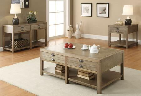 Occasional Group Collection 701958SET 3 PC Living Room Set with Coffee Table + End Table + Sofa Table in Driftwood