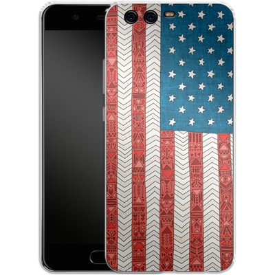 Huawei P10 Silikon Handyhuelle - USA von Bianca Green