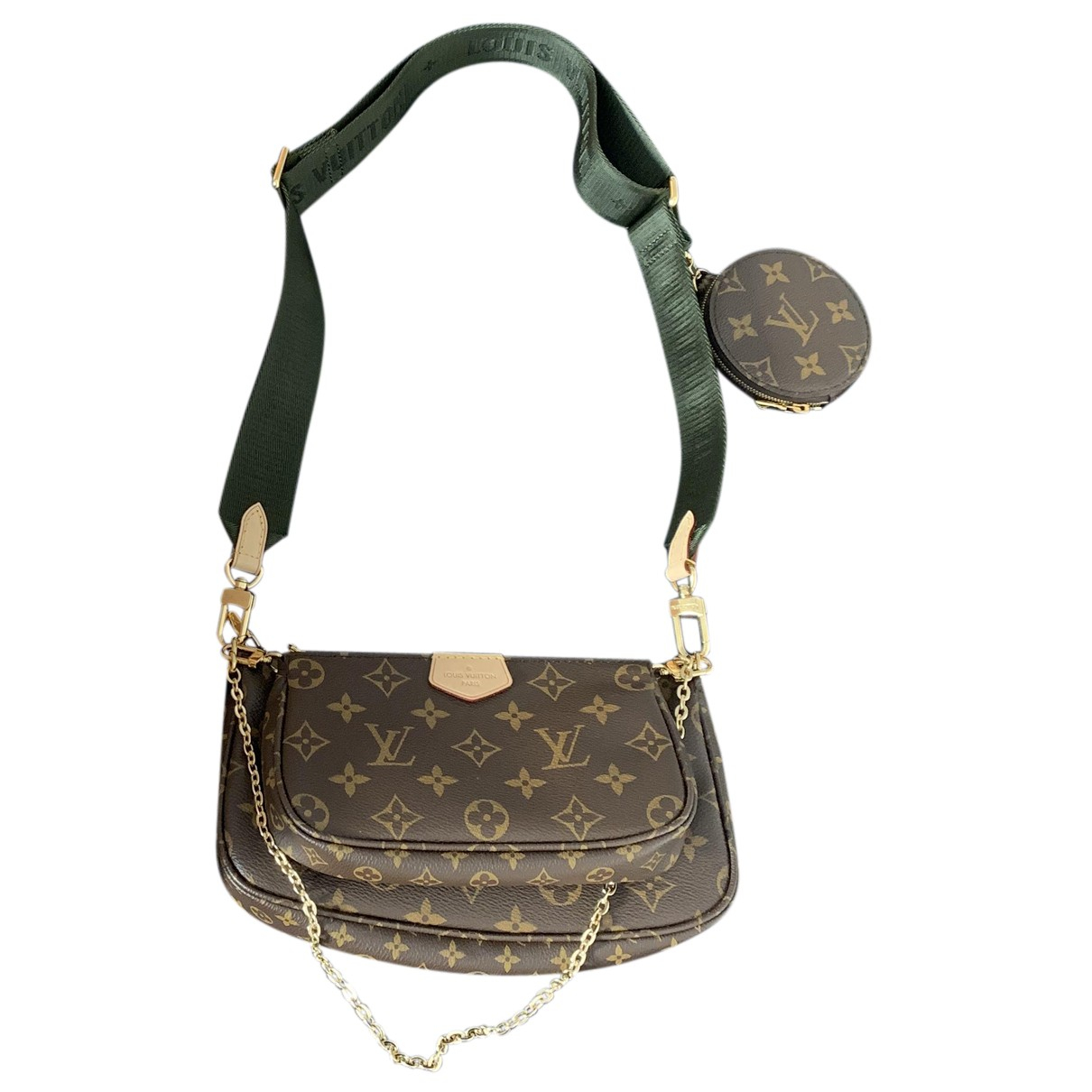 Louis Vuitton Multi Pochette Access Khaki Cloth handbag for Women N