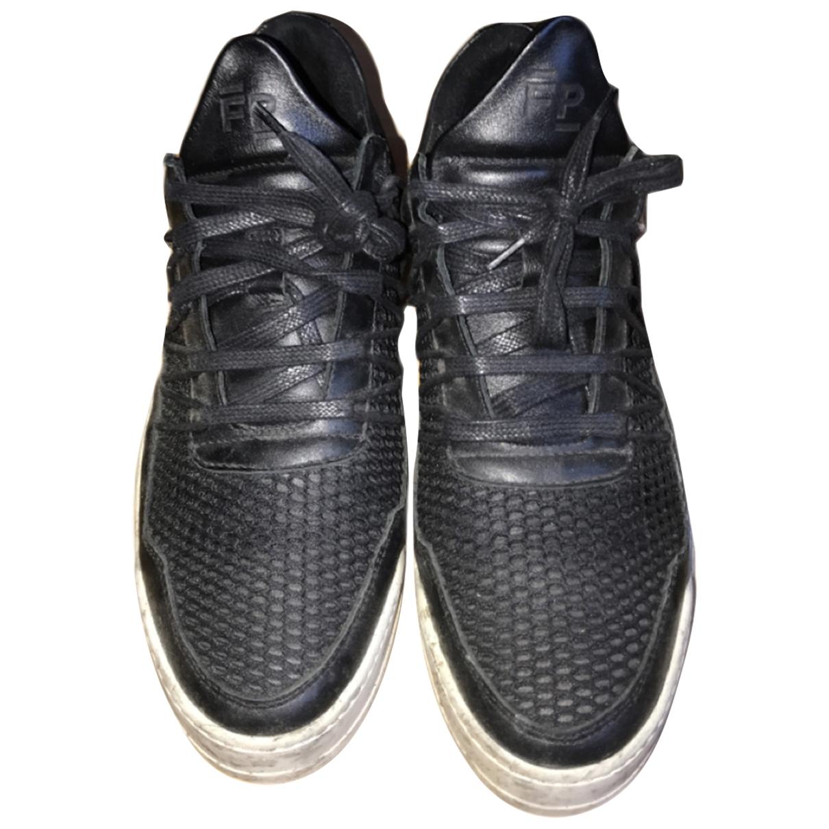 Filling Pieces \N Sneakers in  Schwarz Leder
