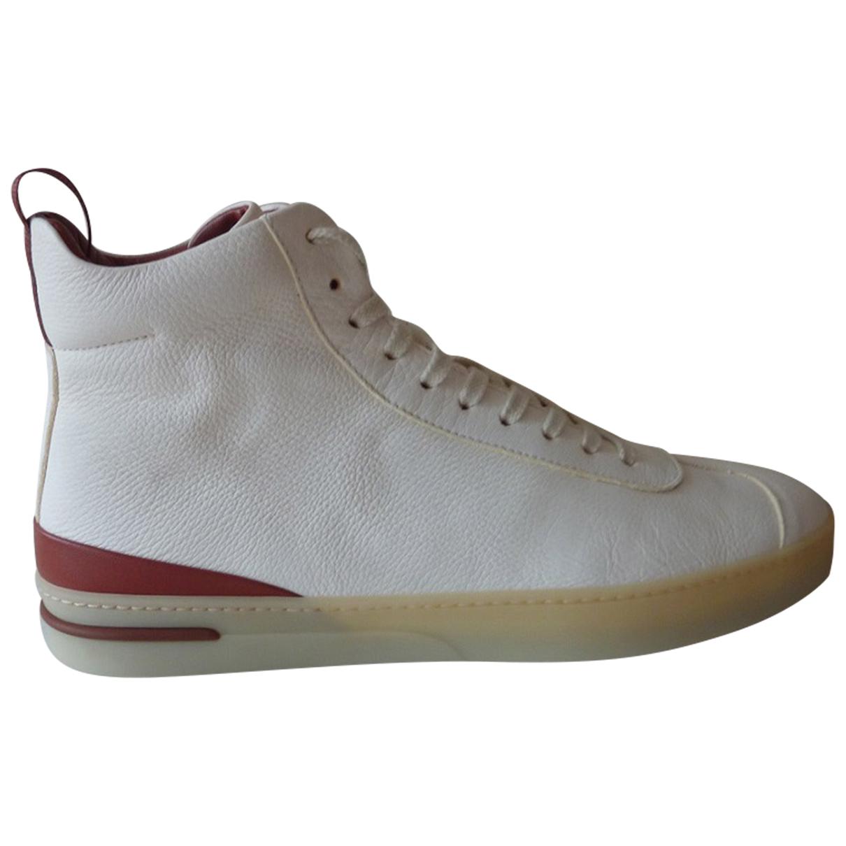 Loro Piana - Baskets   pour homme en cuir - blanc