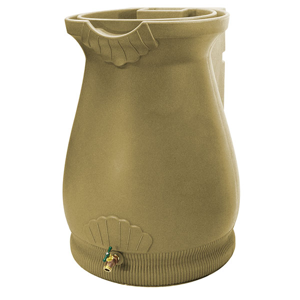 Good Ideas Rain Wizard Urn, 65 Gallon, Khaki