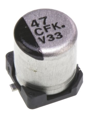 Panasonic 47μF Electrolytic Capacitor 16V dc, Surface Mount - EEEFK1C470UR (5)