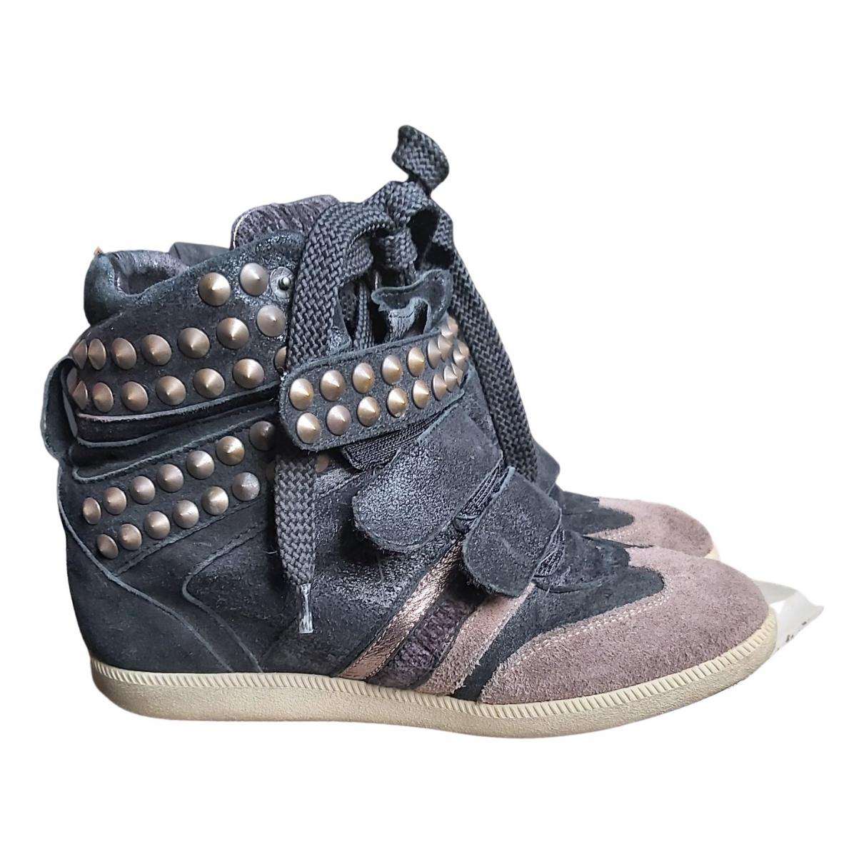 Serafini Manhattan Sneakers in  Schwarz Veloursleder