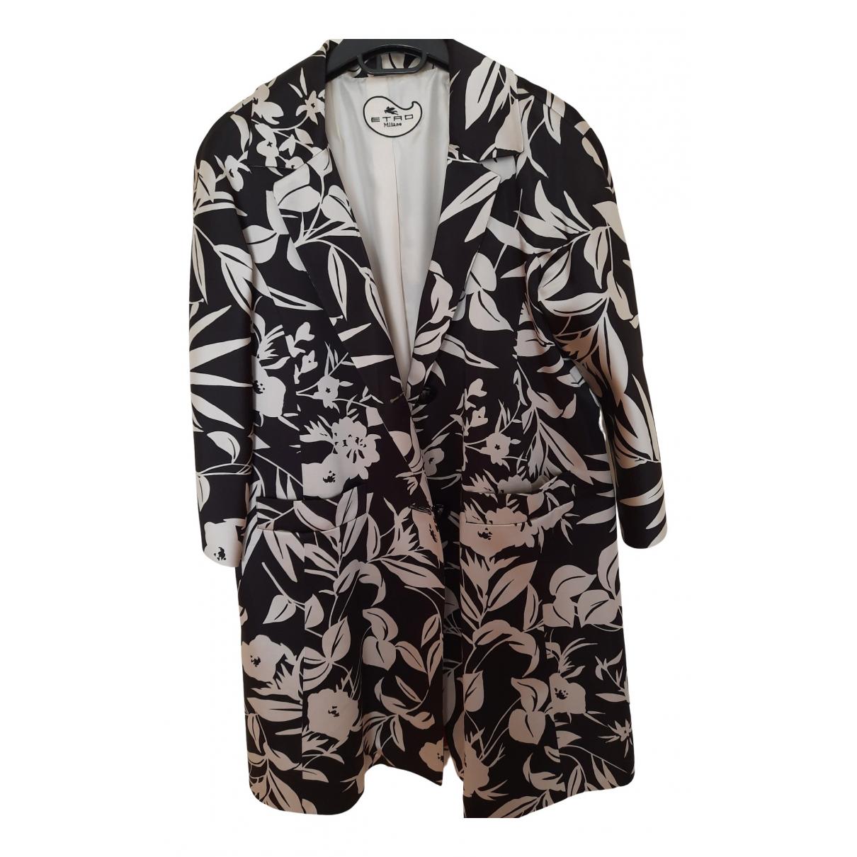 Etro - Manteau   pour femme en soie - noir