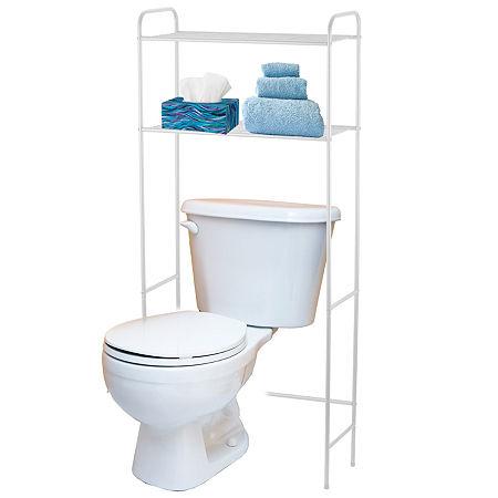 Home Basics Over Toilet Storage, One Size , White