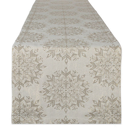 Design Imports Winter Sparkle Table Runner, One Size , Multiple Colors