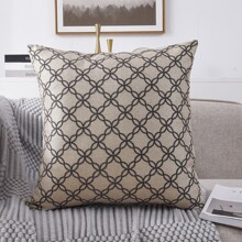 Geometric Pattern Cushion Cover Without Filler