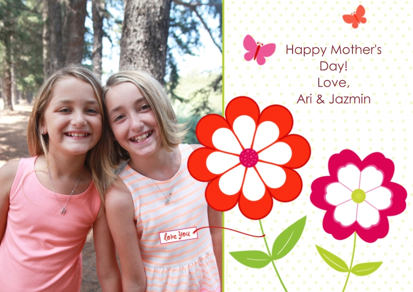 Mother's Day Cards 5x7 Cards, Premium Cardstock 120lb with Rounded Corners, Card & Stationery -Love You