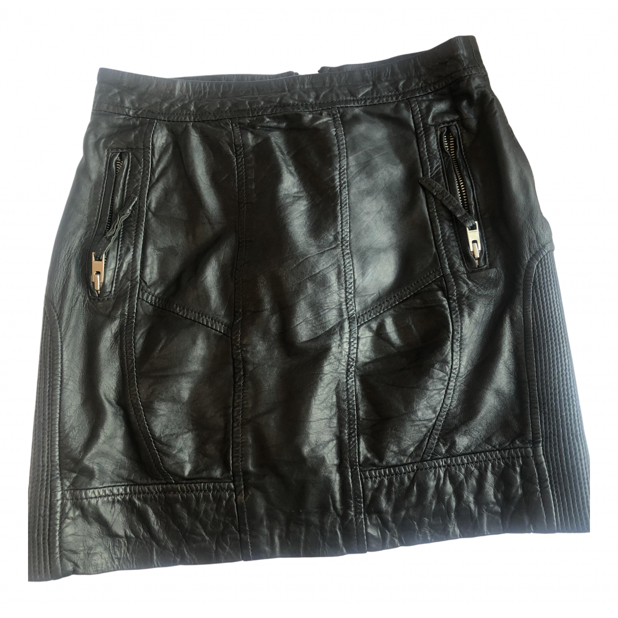 All Saints \N Black Leather skirt for Women 8 UK