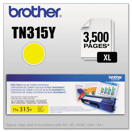 Brother TN-315Y Original Yellow Toner Cartridge High Yield
