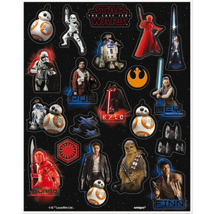 Star Wars EP. VIII 4 Sticker Sheets/Favors For Birthday Party