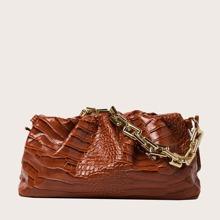 Tasche mit Krokodil Praegung