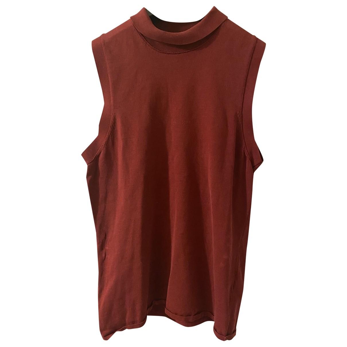 Boss \N Red Silk  top for Women 36 FR