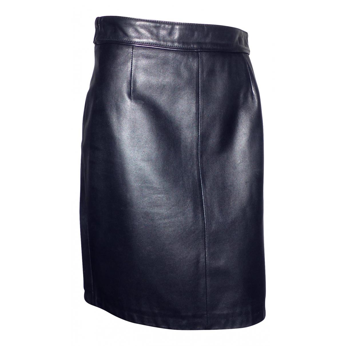 Zapa - Jupe   pour femme en cuir - noir