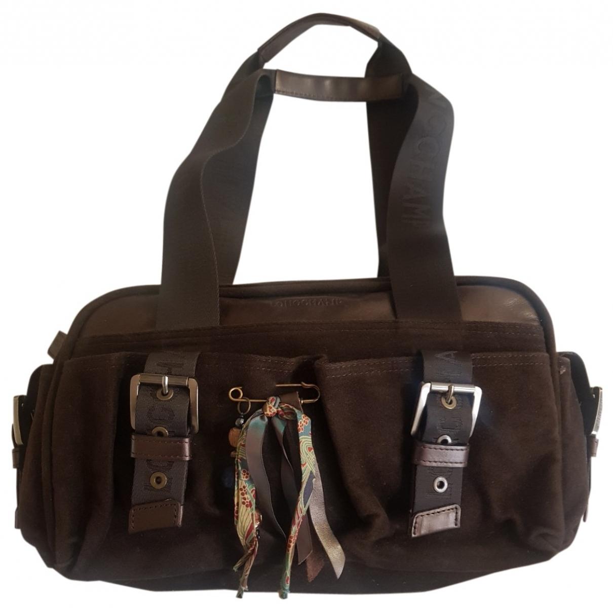 Longchamp \N Handtasche in  Braun Samt