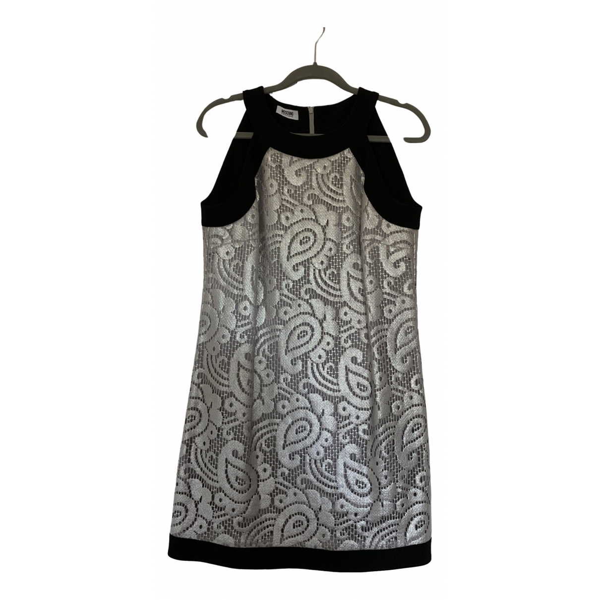 Moschino Cheap And Chic \N Kleid in  Silber Baumwolle
