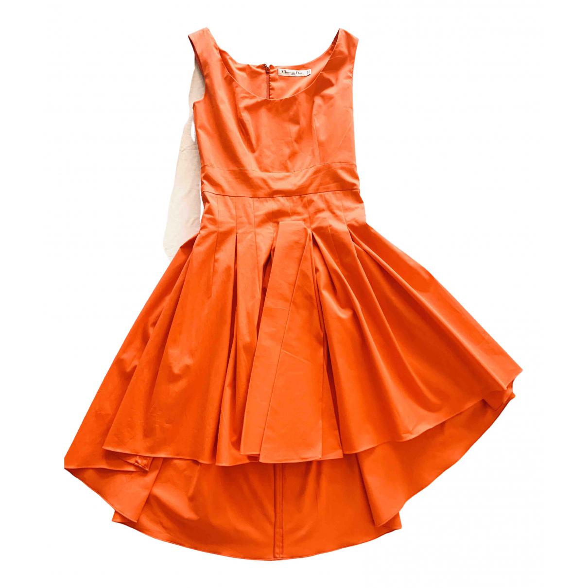 Dior \N Orange Cotton dress for Women 38 FR