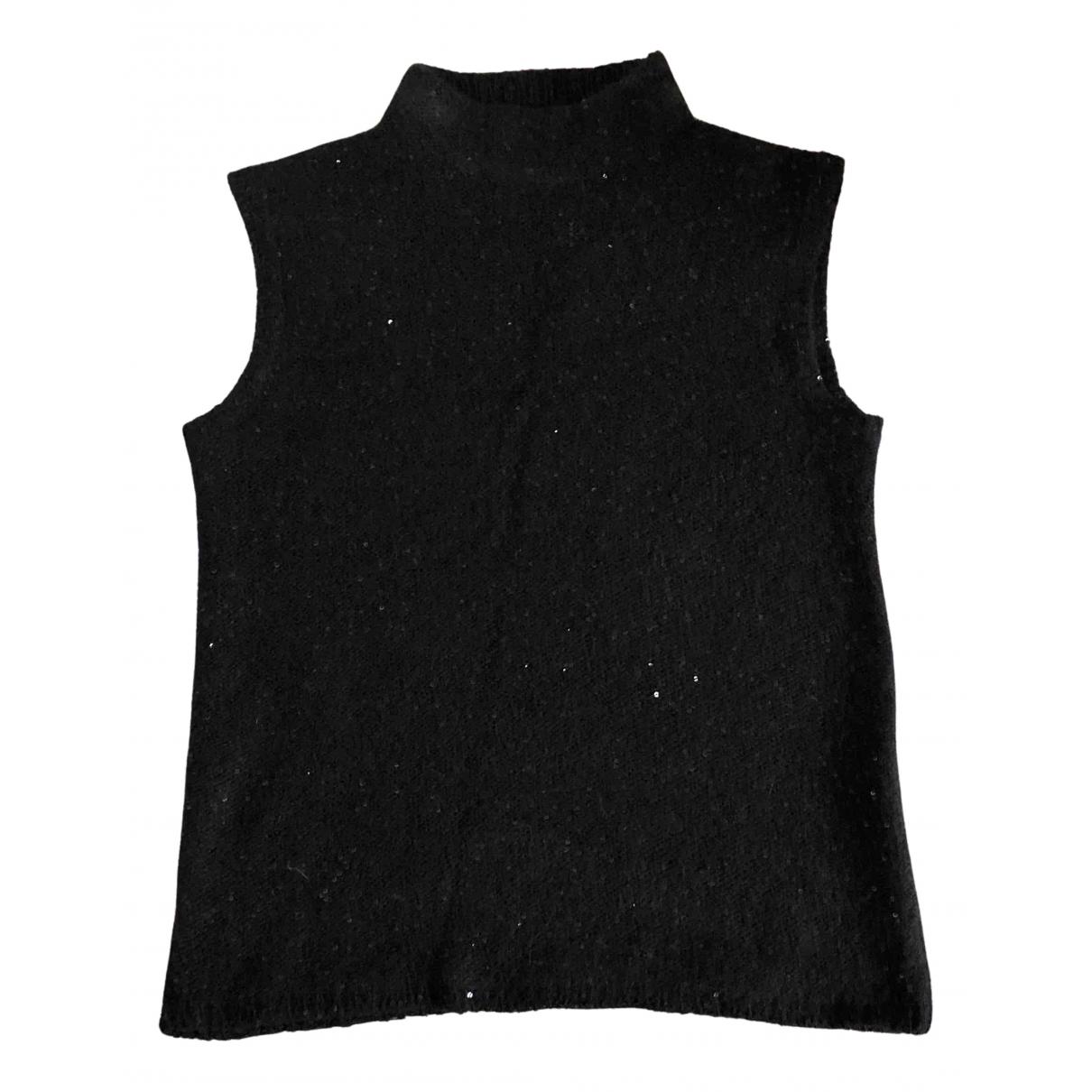 Jigsaw - Pull   pour femme en laine - noir